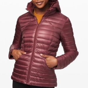 lululemon Pack It Down Jacket Shine Maroon Size 4
